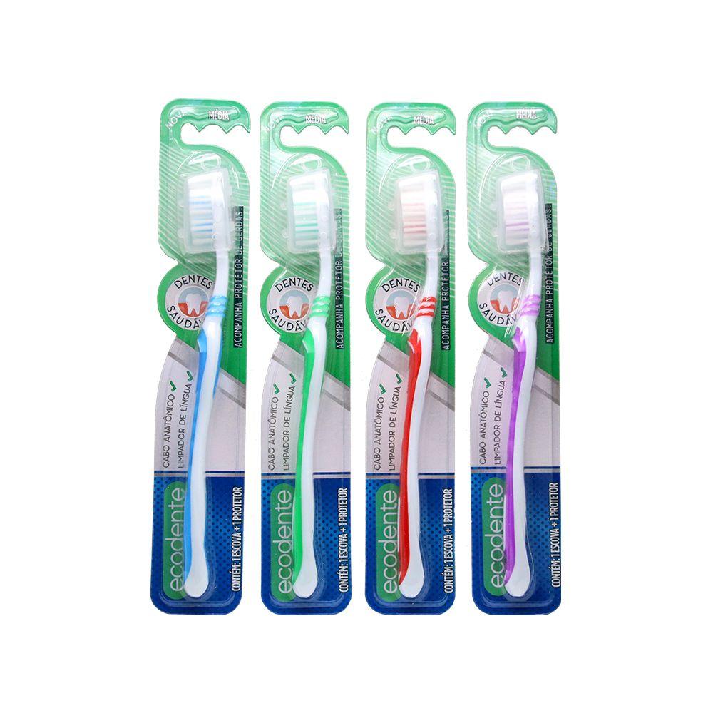 12 Escovas de Dente Adulto - Dentes Saudáveis