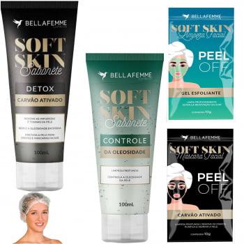 Combo Limpeza Facial Sabonete Detox Gel Esfoliante