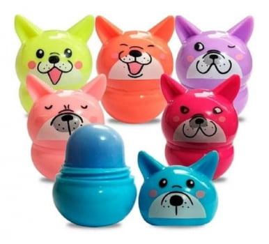 Kit 6 unidades Lip Balm Hidratante Labial Cachorrinho