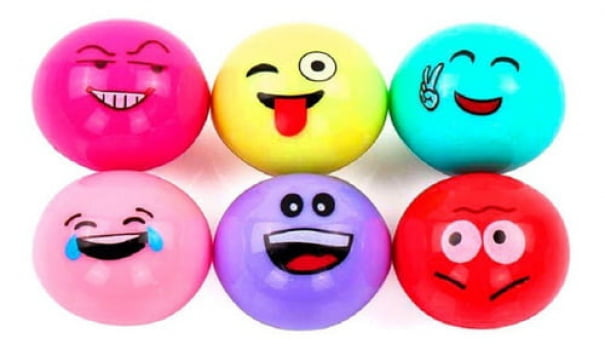 Kit 6 unidades Lip Balm Hidratante Labial Emoji