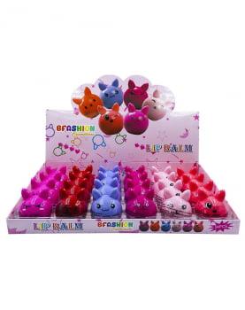 Kit 6 unidades Lip Balm Hidratante Labial Gatinho