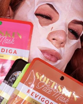 Máscara Facial K-Beauty Anti-Fadiga